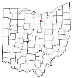 New London, Ohio - Image: OH Map doton New London