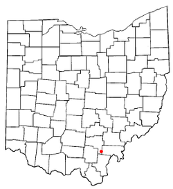 Location of Wilkesville, Ohio