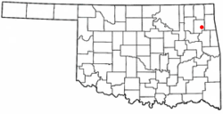 Location of Wickliffe, Oklahoma