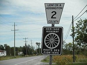 Ontario Highway 2 - Heritage Highway