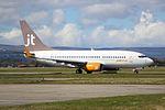 OY-JTT Boeing 737-700 Jet Time (26313531702).jpg