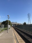 Oakland Coliseum Amtrak Station looking towards CP Coliseum and Hayward Station.jpg