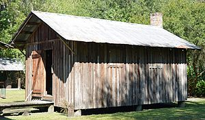 Obediah Barber Homestead - Image: Obediah Barber Homestead detached kitchen building, Ware County, GA, US