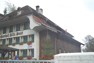 Oberwil im Simmental - The Gasthof Alte Post in Oberwil im Simmental