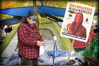 Alternative media - Example of a sign used during the Occupy Wall Street movement.