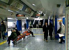 大江戸線ホーム(2005年1月)