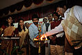 Oil Lamp Lighting - Inaugural Function - Ranchi Science Centre - Jharkhand 2010-11-29 9034.JPG