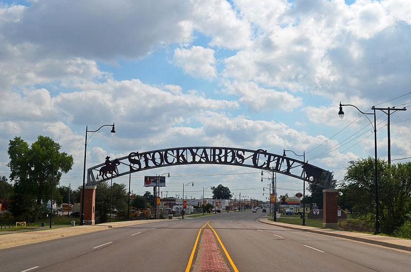 File:Oklahoma City OK Stockyards City Entrance Sign (Taken 20120926).jpg