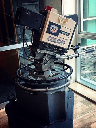 Televisión Nacional de Chile - Old Panasonic colour-television camera used by Televisión Nacional.