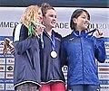 Olivia Carter, Dakota Luther, Sachi Mochida at 2019 Summer Universiade.jpg