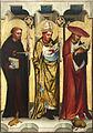 Oltář třeboňský, Sv.Jiljí, sv.Augustin, sv.Jeroným, Národní galerie v Praze.jpg