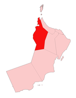 Location of Az Zahirah (Ad Dhahirah) Region in Oman