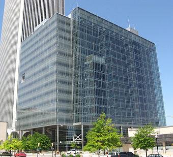 The Tulsa City Hall serves as the base for most city government functions. One Technology Center.jpg