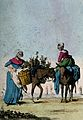 One woman guides a donkey carrying flowers in panniers acros Wellcome V0039539.jpg
