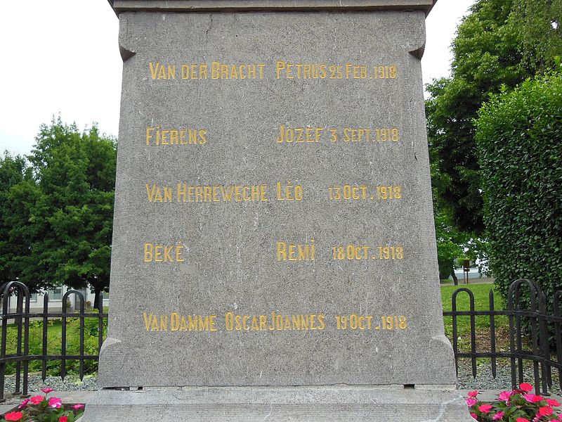 Detail of the World War I memorial