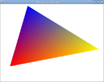 OpenGL Tutorial Triangle rotating.png