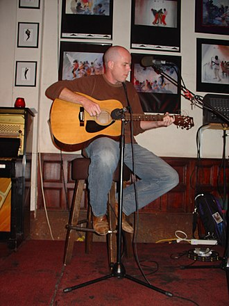 Open mic - A musician performs open mic at No Name Bar in Sausalito, California.