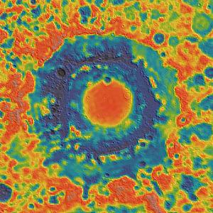 Mare Orientale - Image: Orientale basin GRAIL gravity