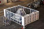 Orion engineering model in VAB clean room 01.jpg