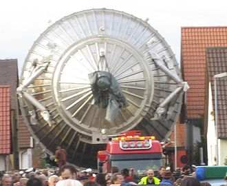 KATRIN - Transport of the main spectrometer to the Karlsruhe Institute of Technology.