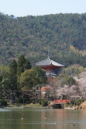 Daikaku-ji - Daikaku-ji in Kyoto, overlooking the Ōsawa Pond