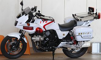 "Motorcycle ambulance - A ""Lifesaving Rider"" motorcycle of Ota City Fire Department, Gunma Prefecture"