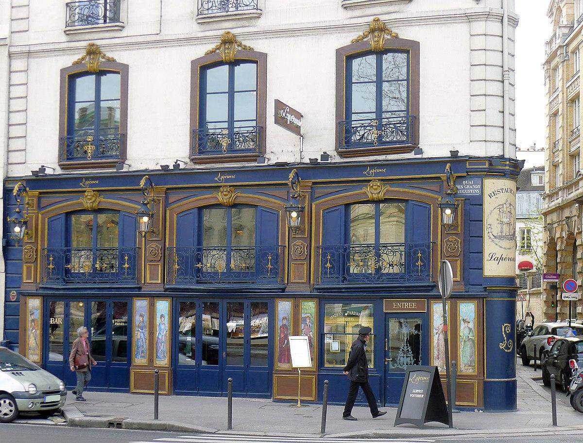 La Perouse Restaurant Paris Menu