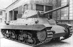 a tank with riveted hull and turret