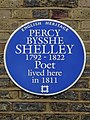PERCY BYSSHE SHELLEY 1792-1822 Poet lived here in 1811.JPG