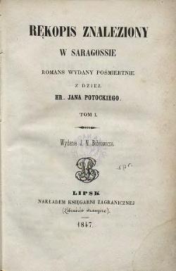 Rekopis Znaleziony W Saragossie Calosc Wikizrodla Wolna Biblioteka