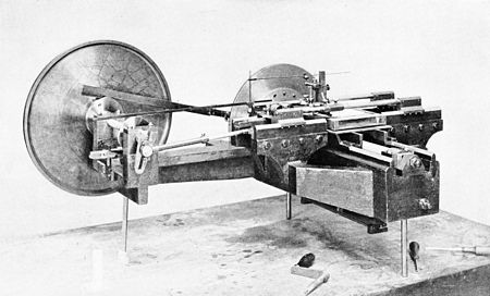 PSM V49 D127 Dividing engine for ruling gratings for spectrum anayzers 1895.jpg