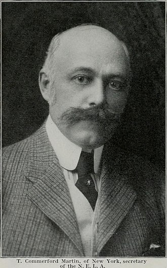 Thomas Commerford Martin - A photograph of Thomas Commerford Martin published in Pacific Gas and Electric magazine (1914)