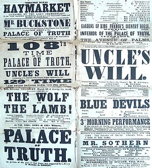 The Palace of Truth - Poster for the play's 108th performance
