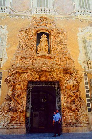 Palace of the Marqués de Dos Aguas - Palacio del Marques de Dos Aguas, Entrance