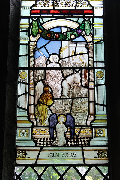 File:Palm Sunday (Stained glass, Chester Cathedral).JPG