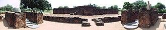 Nagarjunakonda - Panoramic view of the Buddha statue and other monuments