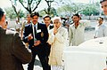 Pandit Ram Kishore Shukla leading to an official interface in 1988.jpg