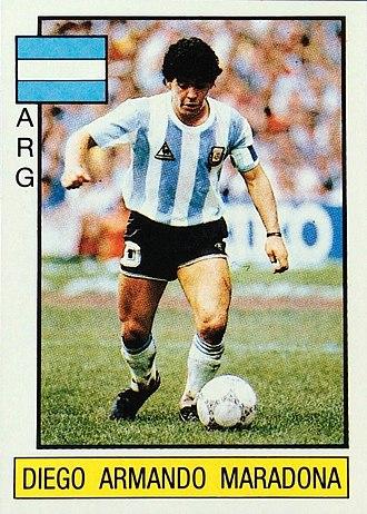 Association football trading card - Image: Panini maradona supersport