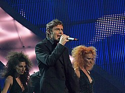 Paolo Meneguzzi all'Eurovision Song Contest 2008.
