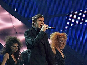 Switzerland in the Eurovision Song Contest 2008 - Meneguzzi at the Eurovision semi-final