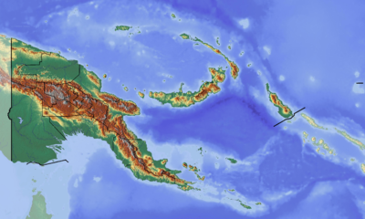 Location map Papua New Guinea