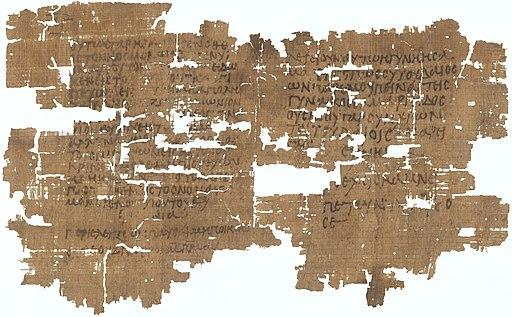 Papyrus 63 - Staatliche Museen zu Berlin inv. 11914 - Gospel of John 3,14-18 4,9-10 - verso