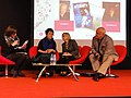Paris, Salon du Livre 2015 (14) dialogue Olga Tokarckzuk - Eric-Emmanuel Schmitt.JPG