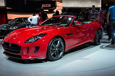 The Jaguar F-Type, made by Jaguar Land Rover at Castle Bromwich Assembly Paris Motor Show 2012 (8065248951).jpg