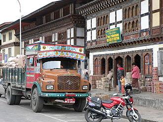 Paro, Bhutan - Image: Paro's main street 2