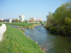 Partizánske - Image: Partizánske rieky Nitra a Nitrica