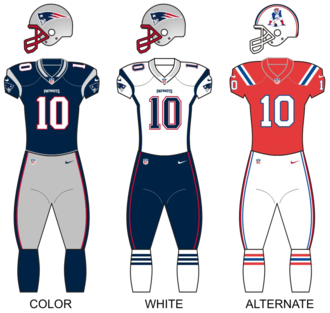 2012 New England Patriots season - Image: Patriots 12uniforms