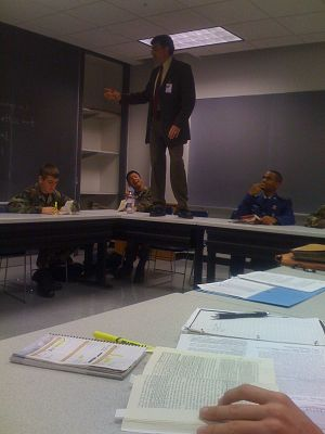 Paul O. Carrese - Carrese teaching a class at the United States Air Force Academy in 2009