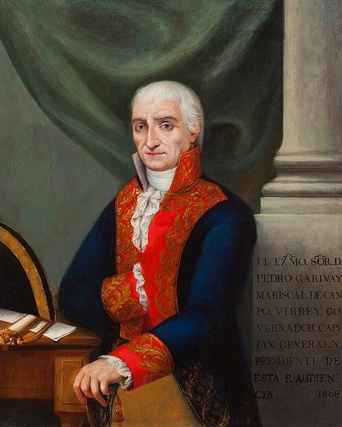 Retrato de Pedro de Garibay.
