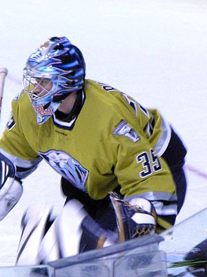 English: Pekka Rinne, a Finnish ice hockey goa...